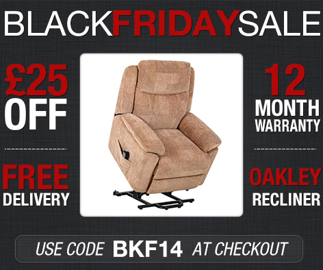 £25 OFF the Oakley Riser Recliner Chair