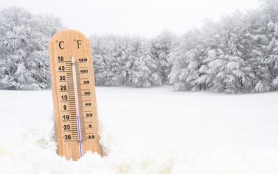 Winter weather thermometer
