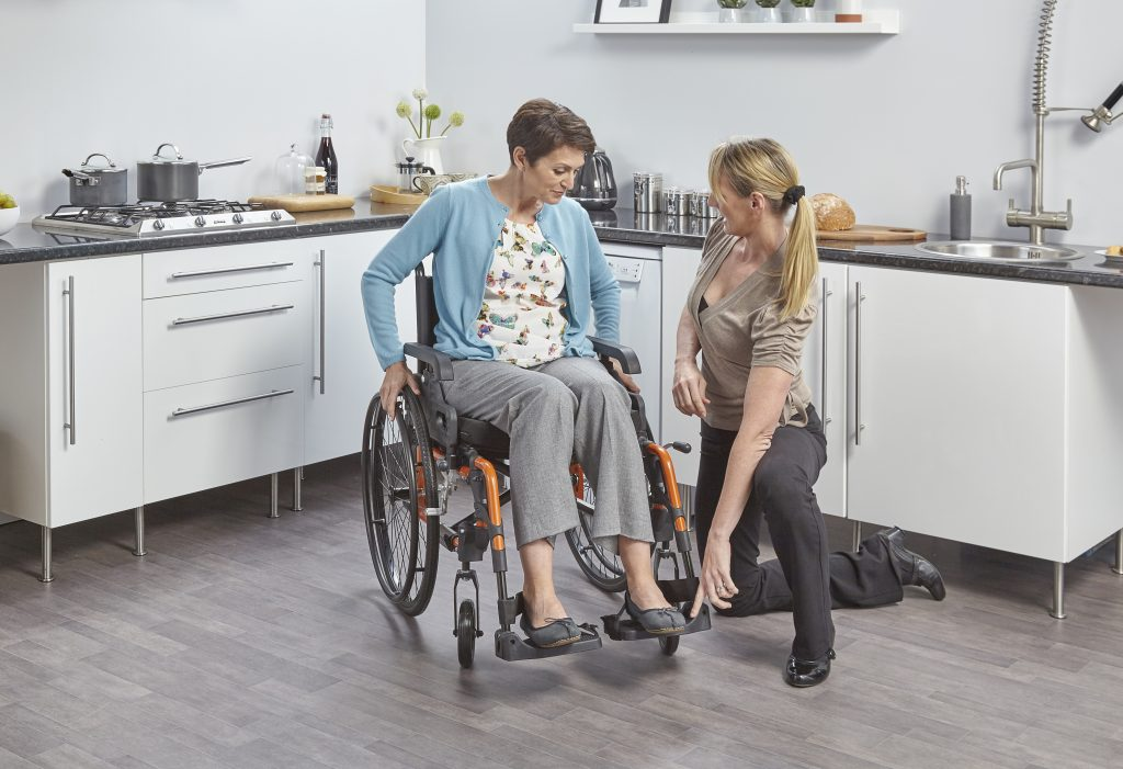 setting up a new wheelchair