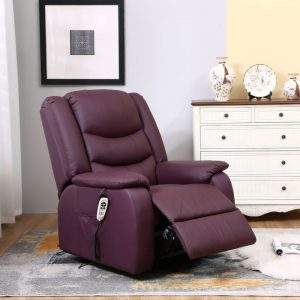 Strada recliner chair in Wine