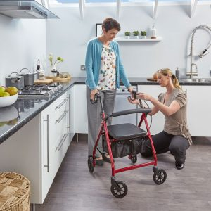 4 wheel Rollator in the kitchen