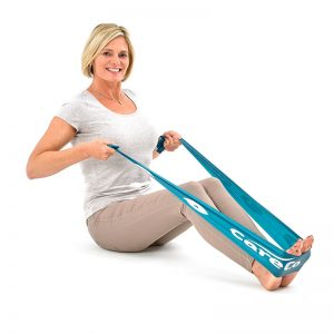 woman using an exercise band
