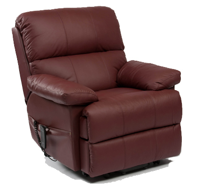 Lars Luxury Leather Wall Hugger Riser Recliner Chair