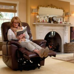 woman in a recliner chair