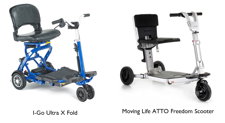 I-Go Ultra X Fold and ATTO 3 wheel scooters