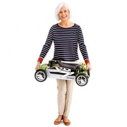 lady carrying the lightest mobility scooter