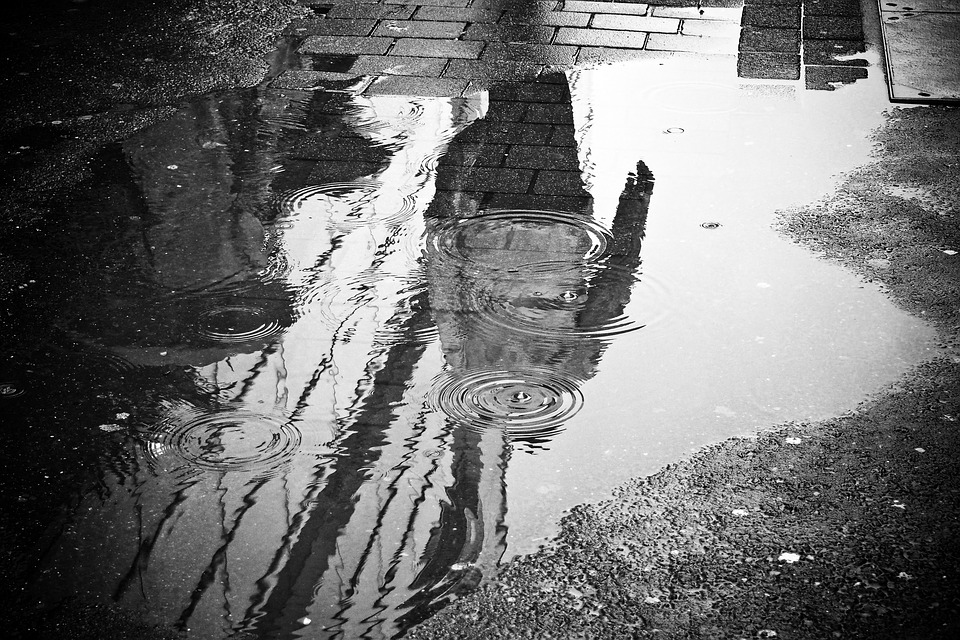 rain and puddles