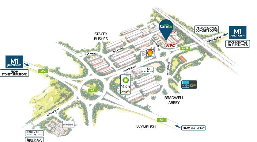 CareCo Milton Keynes Map Dierctions