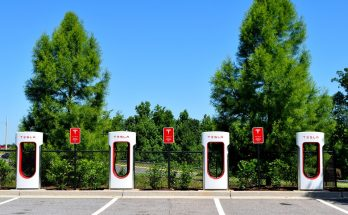 Tesla electric car charging stations
