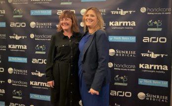 Paula Sparling and Jane Bunting at the AMP Awards