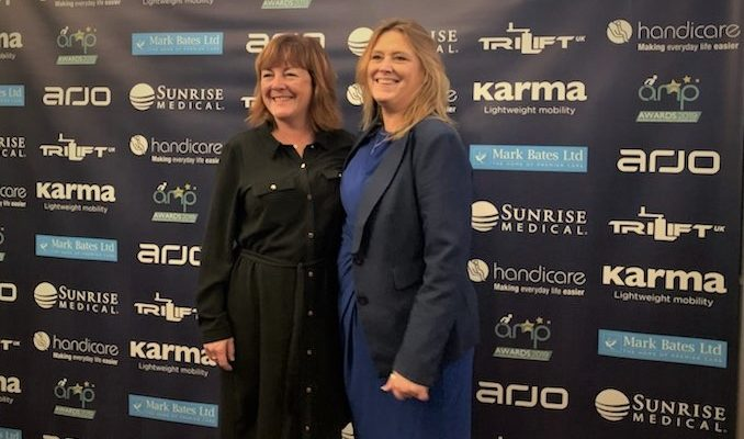 Paula Sparling and Jane Bunting at the AMP Awards