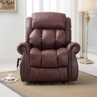 Brown leather Riser Recliner Chair