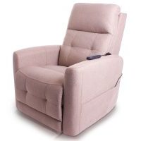 Chair in light brown with Powered Headrest and Lumbar Support