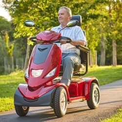 big red park mobility scooter