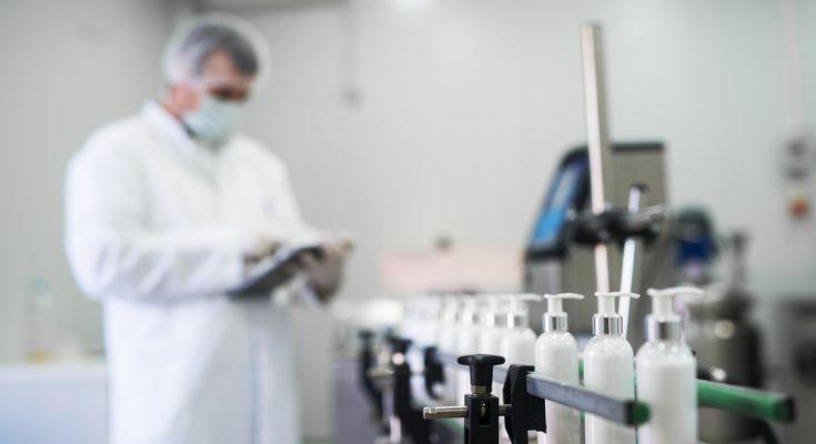 British made hand sanitiser factory