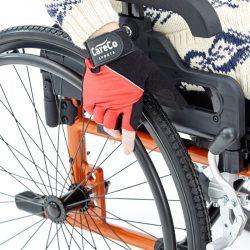 red wheelchair gloves
